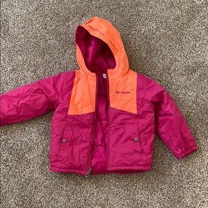Reversible Columbia girls snow jacket